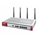 Zyxel USG60WUTMBDL (Firewall Appliance 10/100/1000, 4x LAN/DMZ, 2x WAN, UTM Bundle AS,AV,CF,IDP, 802.11 a/b/g/n 1YR)