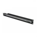 Assmann MO PATCH PANEL SHIELDED 24-P. (DIGITUS Modulares Patch Panel, geschirmt, 24-Port, blank, 1HE, Rack Mount,, Farbe schwarz