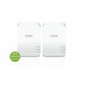 D-link POWERLINE AV2 KIT 2X DHP-P600A (1000Mbit SchuKo Powerline AV2 Kit, dlinkgreen, Kit bestehend aus 2x DHP-P600AV, integrier