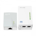 Tp-link AV500 2-port Powerline WiFi Extender KIT, including 1 TL-WPA4220  and 1 TL-PA4010, 500Mbps Powerline datarate, 300Mbps