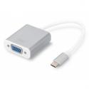 Assmann USB 3.0 Typ C VGA Grafik Ad. (USB Typ C 1080p VGA Adapter Aluminium Gehäuse, 20cm Kabel Länge Chipset: VL100+IT6513, USB