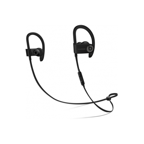 Beats Powerbeats3 - Earphones with mic - in-ear - over-the-ear mount -  wireless - Bluetooth - noise isolating - black - for 12 9-inch iPad Pro