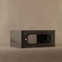 Netrack wall-mounted cabinet 19'', 4.5U/450mm - graphite, glass door