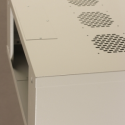 Netrack wall-mounted cabinet 19'', 4.5U/450mm, glass door, grey