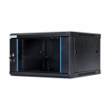 Digitalbox START.LAN rack wall-mount cabinet 19'' 6U 600x450mm black (glass front door)