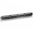 Equip 19'' patch panel 24 port 1U cat.5e black
