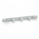 Equip 19'' cable management panel w. 5 holder 1U grey
