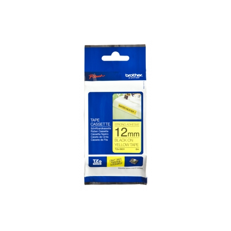Brother TZeS631 - Laminated tape - extra strength adhesive - black on  yellow - Roll (1 2 cm x 8 m) 1 roll(s) - for P-Touch GL-H100, PT-1290,  3600,