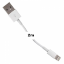 Whitenergy Cable USB 2.0 for iPhone 5  transfer/charging 200cm White