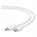 Gembird HDMI V1.4 male-male cable with gold-plated connectors 1m, white