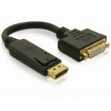 Delock adapter Displayport(M) -> DVI-I(F)29pin 20cm