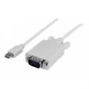 Startech 3M MINI DISPLAYPORT AUF VGA (10 ft Mini DisplayPort to VGA Adapter Converter Cable  mDP to VGA 1920x1200 - White)