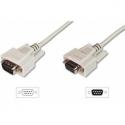 Assmann RS232 Extension cable DSUB9 M (plug)/DSUB9 F (jack) 2m beige