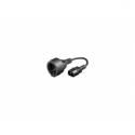Gembird power adapter cord C14 male -> schuko female