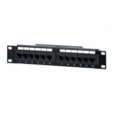 Equip 10'' patch panel 12 port 1U cat.5E black