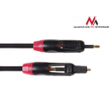 Maclean MCTV-643 Optical Fibre T-T Jack - Jack Twin Plugs Rotational Cable 1m