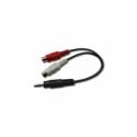Gembird audio cable stereo minijack -> 2x RCA (CINCH) F 0,2M