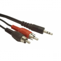 Gembird audio cable JACK 3,5mm M / 2x RCA (CINCH) M 5M