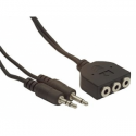 Gembird audio cable 2x JACK 3.5mm M/3x JACK 3.5mm F 1,8M