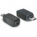 Delock adapter USB mini f-> USB micro m +nikiel