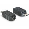 Delock adapter USB mini f-> USB micro m +nikiel