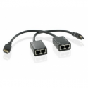 4world 1080p HDMI Extender by CAT 5e/6 RJ45 Ethernet 30m w/Tx+Rx ''pigtail''