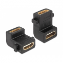 Delock Adapter HDMI A female > female with screw hole 90° angled