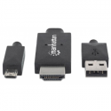 Manhattan MHL Cable / Adapter Micro-USB 11-pin to HDMI connects smartphone to TV