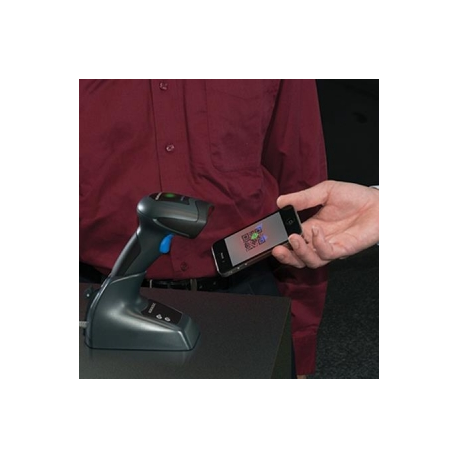 QuickScan Mobile QM2430, 433 MHz, Kit, RS-232, 2D Imager, Black (Kit inc. Imager, Base Station, 90G000008 Cable, 8-0935 Power Su