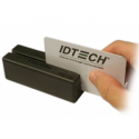 Id Tech MiniMag Duo - Magnetic card reader ( Tracks 1, 2 & 3 ) - USB - black