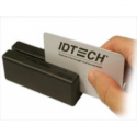 Id Tech MiniMag Intelligent Swipe Reader IDMB-3321 - Magnetic card reader ( Tracks 1, 2 & 3 ) - serial RS-232 - black