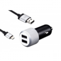 Justmobile DELUXE CAR CHARGER 4.8A (2.9 x 2.9 x 6.8cm, 2x USB, 5V/2.4A, 1.8m lightning)