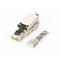 Assmann Geschirmter RJ45-Stecker (Geschirmter RJ45-Stecker zur Feldkonfektionierung, AWG 22-27, 10 GBit Ethernet, PoE+, Staubsch